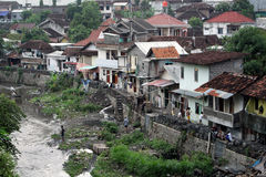 Poor neigborhood north of Malioboro. YOGYAKARTA/INDONESIA - CIRCA NOVEMBER 2015: View of one of one of the poorest neigborhoods north of the touristic Malioboro Stock Photography