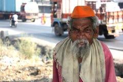 Poor Old Man Stock Photo