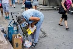A poor old woman Stock Photos