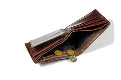Poor people empty wallet Royalty Free Stock Photo