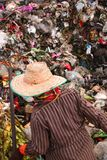 Poor people find or searching garbage. For sell to reuse and recycle in landfill. This life and living Stock Photography