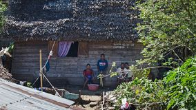 Poor people. Of Madagascar near their house Stock Images