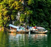 Poor people problem. Halong bay vietnam Royalty Free Stock Photo