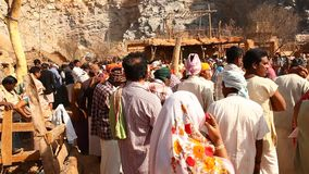 Poor people in village Rajasthan India stock video