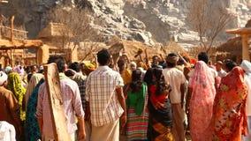 Poor people in village Rajasthan India stock video footage