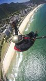 Poor physical piloting your own paraglider. In Rio de Janeiro, Brazil South America Royalty Free Stock Photos