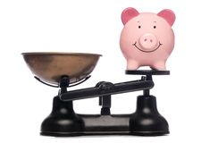 Poor piggybank Royalty Free Stock Image