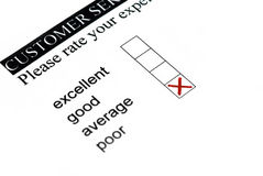 Poor rating. Porr rating at customer survey Stock Photos