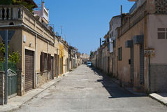 Poor residential district of Porto Cristo town Stock Photography