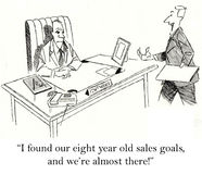 Poor Results. I found our eight year old sales goals, and we're almost there Royalty Free Stock Photos