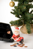 Poor santa Stock Images
