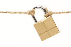 Poor Security Lock Isolated Stock Photo