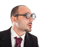 Poor Sight Businessman Royalty Free Stock Images