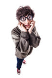 Poor sight scared student Royalty Free Stock Photo
