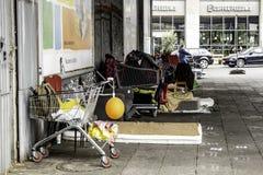 Free Poor Sleeping Street Stock Image - 159269891