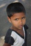 Poor Streetside Boy Royalty Free Stock Photos