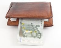 Poor thick wallet Royalty Free Stock Images