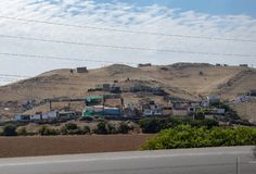 Towns Along the Road Heading South in Peru. Poor towns along the road heading south from Lima, Peru royalty free stock photos