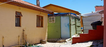 A poor township close to Cape Town Stock Photos