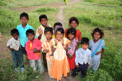 Poor Village Children Royalty Free Stock Photography