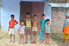 Poor village children in India. Children belonging to poor families in Northern India Stock Photos