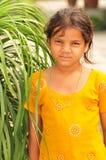 Poor village girl Stock Photo