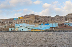 The poor village of Upper Egypt Stock Photo