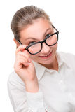 Poor vision - a reason to wear glasses Royalty Free Stock Photo