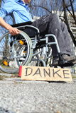 Poor wheelchair user Royalty Free Stock Photography