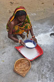Poor Woman. A major cause of poverty among India's rural people, both individuals and communities, is lack of access to productive assets and financial Stock Photography