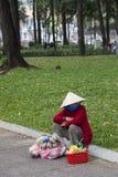 Poor woman in Vietnam Stock Photos
