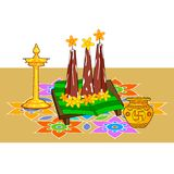 Poorada Uttigal for Onam decoration Royalty Free Stock Image