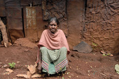 Poorest People in Orissa Stock Image