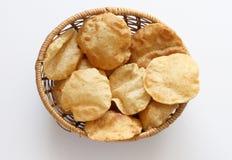 Poori indiano della prima colazione (boori) fotografia stock
