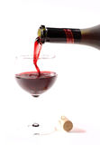 Pooring wine Royalty Free Stock Images