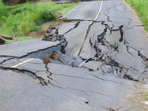 A poorly built road in the windward islands Stock Photography