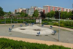 Poorly maintained urban park. Stock Photos