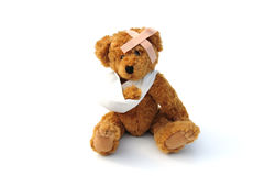 Poorly teddy bear Royalty Free Stock Photography
