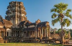 Poort aan Angkor Wat Royalty-vrije Stock Afbeeldingen