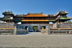 Poort aan de keizerbijlage Keizer Stad Hué vietnam Royalty-vrije Stock Foto