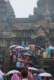 Poort aan de moessonseizoen van Angkor Wat Royalty-vrije Stock Foto