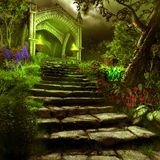 Poort aan geheimzinnigheid tuin Royalty-vrije Stock Afbeelding