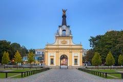 Poort aan het Branicki-Paleis in Bialystok, Polen stock afbeeldingen
