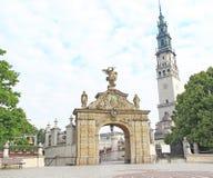 Poort aan het heiligdom van Jasna Gora in Czestochowa stock fotografie