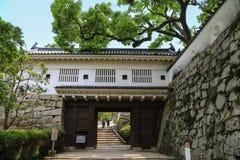 Poort aan het Kasteel van Okayama japan stock fotografie