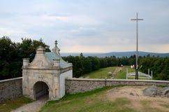 Poort aan het klooster Stock Foto