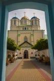 Poort aan Klooster Ostroh - de Oekraïne. royalty-vrije stock fotografie