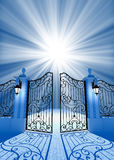 Poort aan licht royalty-vrije illustratie