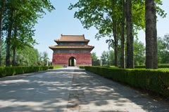 Poort aan Ming Tombs in Peking royalty-vrije stock foto's