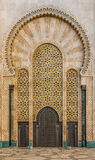 Poort aan Moskee van Hasan II in Casablanca, Marokko Stock Fotografie